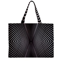 Abstract Of Shutter Lines Zipper Mini Tote Bag
