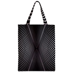 Abstract Of Shutter Lines Zipper Classic Tote Bag