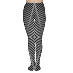 Abstract Of Shutter Lines Women s Tights