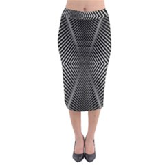 Abstract Of Shutter Lines Midi Pencil Skirt
