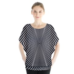 Abstract Of Shutter Lines Blouse