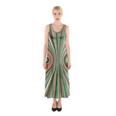 Colorful Spheric Background Sleeveless Maxi Dress
