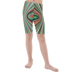 Colorful Spheric Background Kids  Mid Length Swim Shorts