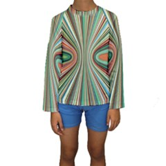 Colorful Spheric Background Kids  Long Sleeve Swimwear