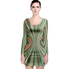 Colorful Spheric Background Long Sleeve Bodycon Dress