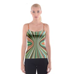 Colorful Spheric Background Spaghetti Strap Top