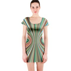 Colorful Spheric Background Short Sleeve Bodycon Dress