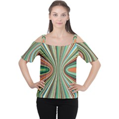 Colorful Spheric Background Women s Cutout Shoulder Tee