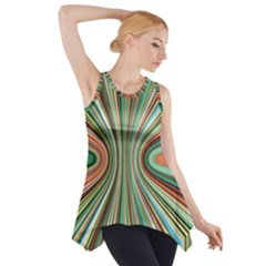 Colorful Spheric Background Side Drop Tank Tunic