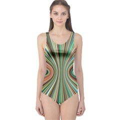 Colorful Spheric Background One Piece Swimsuit