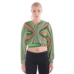 Colorful Spheric Background Women s Cropped Sweatshirt