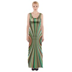 Colorful Spheric Background Maxi Thigh Split Dress