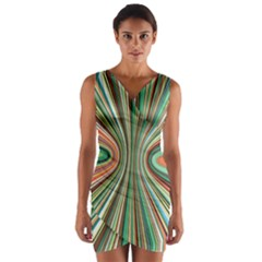 Colorful Spheric Background Wrap Front Bodycon Dress