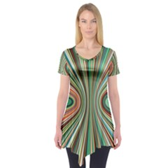 Colorful Spheric Background Short Sleeve Tunic