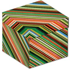 Colorful Stripe Background Storage Stool 12