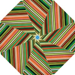 Colorful Stripe Background Hook Handle Umbrellas (small)