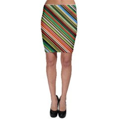 Colorful Stripe Background Bodycon Skirt