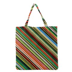 Colorful Stripe Background Grocery Tote Bag