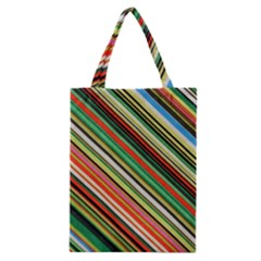 Colorful Stripe Background Classic Tote Bag