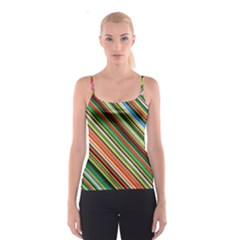 Colorful Stripe Background Spaghetti Strap Top