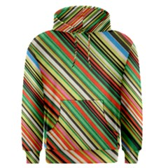 Colorful Stripe Background Men s Pullover Hoodie