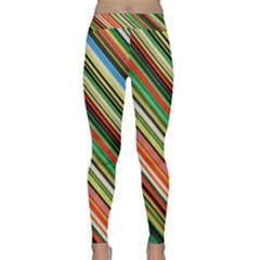 Colorful Stripe Background Classic Yoga Leggings