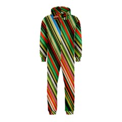 Colorful Stripe Background Hooded Jumpsuit (Kids)