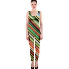 Colorful Stripe Background OnePiece Catsuit
