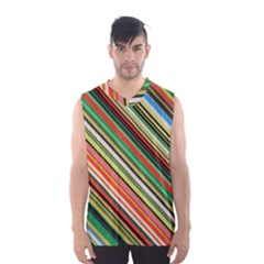 Colorful Stripe Background Men s Basketball Tank Top