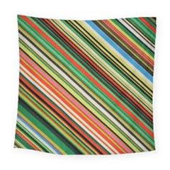 Colorful Stripe Background Square Tapestry (large)