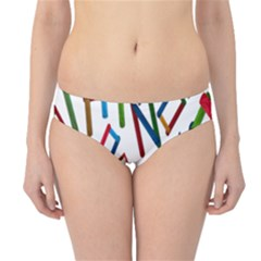 Colorful Letters From Wood Ice Cream Stick Isolated On White Background Hipster Bikini Bottoms