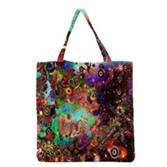 Alien World Digital Computer Graphic Grocery Tote Bag