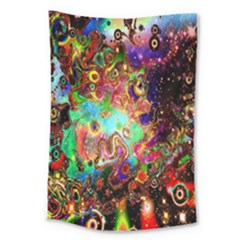 Alien World Digital Computer Graphic Large Tapestry