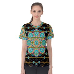 Gold Silver And Bloom Mandala Women s Cotton Tee