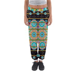 Gold Silver And Bloom Mandala Women s Jogger Sweatpants