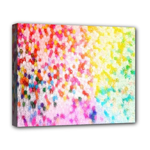 Colorful Colors Digital Pattern Deluxe Canvas 20  x 16