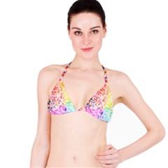 Colorful Colors Digital Pattern Bikini Top