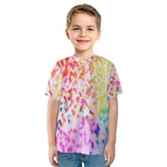 Colorful Colors Digital Pattern Kids  Sport Mesh Tee