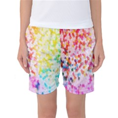 Colorful Colors Digital Pattern Women s Basketball Shorts