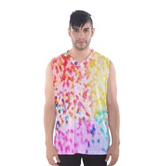 Colorful Colors Digital Pattern Men s Basketball Tank Top