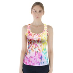 Colorful Colors Digital Pattern Racer Back Sports Top