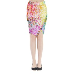 Colorful Colors Digital Pattern Midi Wrap Pencil Skirt