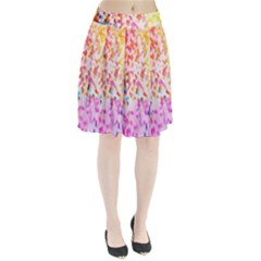 Colorful Colors Digital Pattern Pleated Skirt