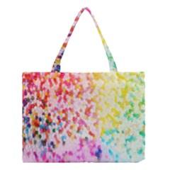Colorful Colors Digital Pattern Medium Tote Bag