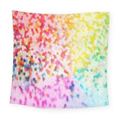 Colorful Colors Digital Pattern Square Tapestry (large)
