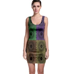 Creative Digital Pattern Computer Graphic Sleeveless Bodycon Dress