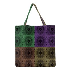 Creative Digital Pattern Computer Graphic Grocery Tote Bag