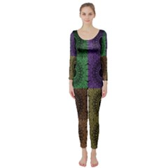 Creative Digital Pattern Computer Graphic Long Sleeve Catsuit