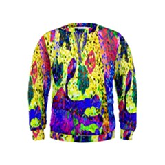 Grunge Abstract Yellow Hand Grunge Effect Layered Images Of Texture And Pattern In Yellow White Black Kids  Sweatshirt