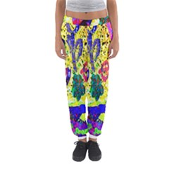 Grunge Abstract Yellow Hand Grunge Effect Layered Images Of Texture And Pattern In Yellow White Black Women s Jogger Sweatpants